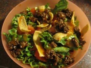 Taco Salad with Fritos {Dairy-Free}