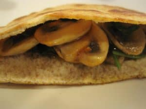 Chicken, Mushroom, Spinach Pitas {Dairy-Free}