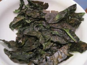 Spinach Chips {Dairy-Free}