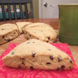 Chocolate Chip Scones {Dairy-Free & Egg-Free}