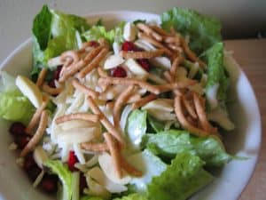 Pomegranate Chow Mein Salad {Dairy-Free}