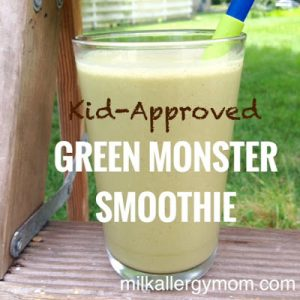 The Green Monster: Peanut Butter Banana Spinach Smoothie