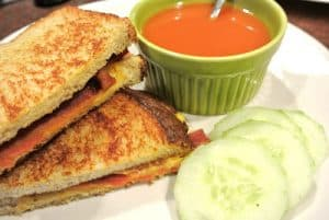 Bacon & Cheese Sandwich {Dairy-Free}