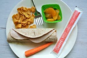Meat & Cheese Tortilla Roll-Up {Dairy-Free Kid Lunch}