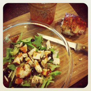 Salad with Roasted Chicken & French {Dairy-Free}