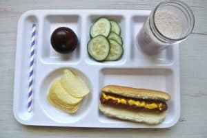 Hot Dog {Dairy-Free Kid Lunch}