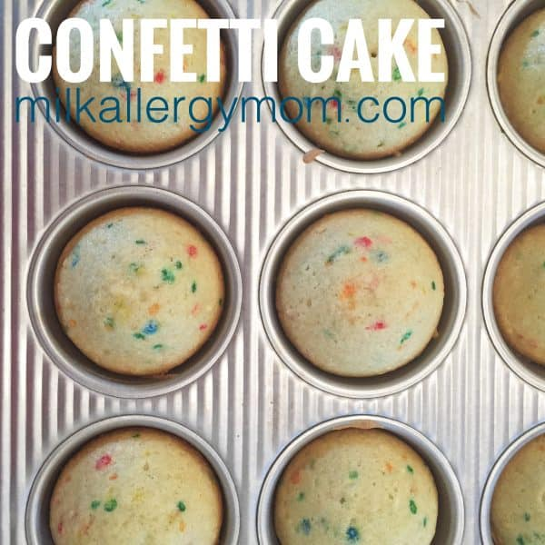 Milk-Free and Egg-Free Confetti Fun Cake Recipe