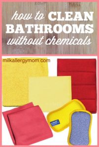 Clean Bathrooms Safely Without Chemicals ~ E-Cloth Bathroom Set
