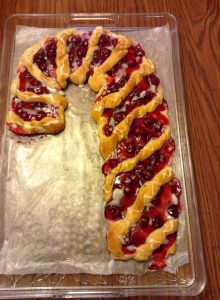 Guest Post ~ Candy Cane Fruit & Cream Cheese Danish