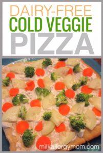 Cold Veggie Pizza {Dairy-Free}