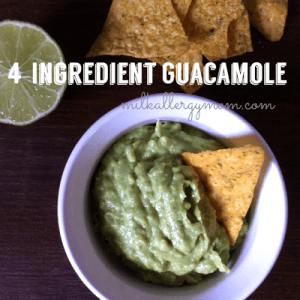 4-Ingredient Guacamole {Allergy-Free}