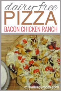 Chicken Bacon Ranch Tortilla Pizza