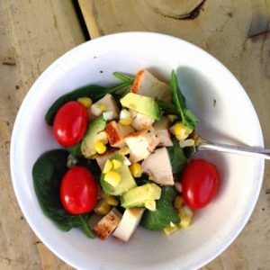 Chicken Avocado Cobb Salad {Dairy-Free}