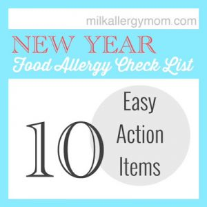 Action Item Check List for Food Allergy Moms | Happy New Year!