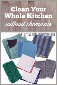 Kitchen Cleaning Chemical-Free Using E-Cloth