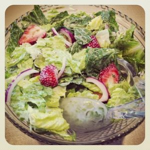Strawberry Romaine Salad {Dairy-Free}