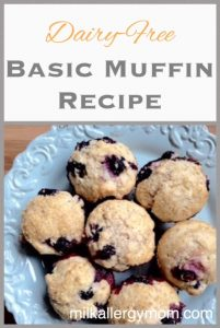 Basic Blueberry Muffins {Dairy-Free & Egg-Free}