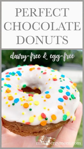Dairy and Egg Free Chocolate Donuts