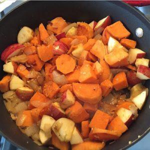 Chicken, Apple, Sweet Potato Skillet (Dairy-Free)