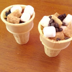 Trail Mix in Ice Cream Cones {Dairy-Free}