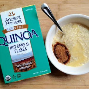 Quinoa Hot Cereal Flakes {Dairy-Free}