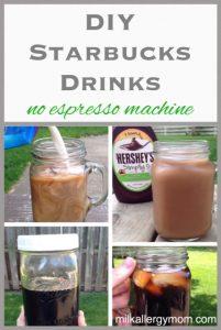 Easy DIY Starbucks Drinks ~ No Espresso Machine