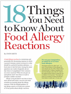 Allergic Living on Food Allergy Reactions