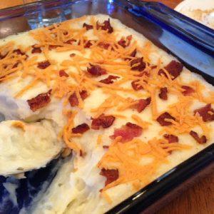 Cheesy Bacon Potatoes {Dairy-Free}