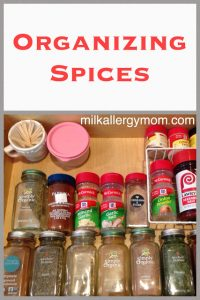 Organizing Spices in the Kitchen