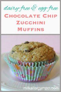 Zucchini Chocolate Chip Muffins {Dairy-Free & Egg-Free}