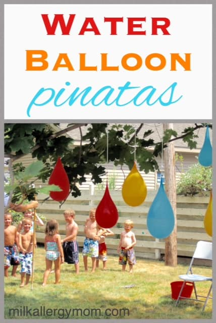 Backyard Water Party With Pinatas!