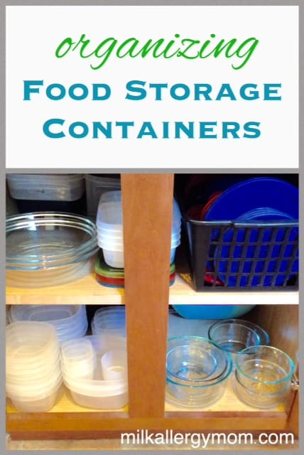 Organizing Food Storage Containers