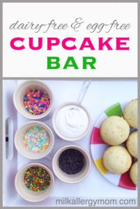 A Simple Cupcake Bar (Dairy-Free & Egg-Free}