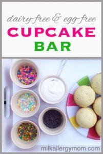 A Simple Cupcake Bar (Dairy-Free & Egg-Free}