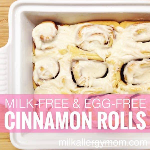Dairy-Free & Egg-Free Cinnamon Rolls