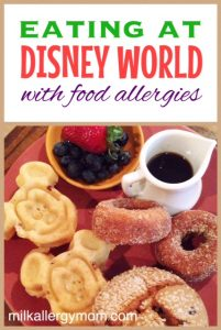 Eating at Disney World Restaurants with Food Allergies!
