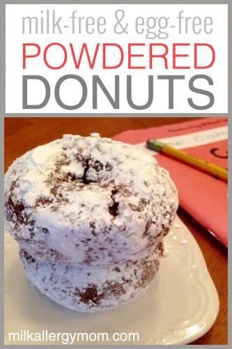 Milk and Egg Free Powder Sugar Donuts