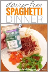 Spaghetti with Parmesan  {Dairy-Free}