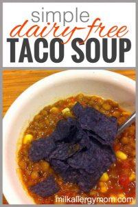Taco Lentil Soup {Dairy-Free}