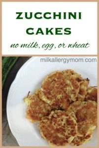 Zucchini Cakes – No Milk, Egg, Wheat