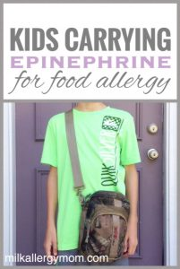 Kids Carrying Epinephrine EpiPens for Food Allergy