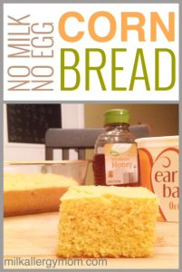 Easy Homemade Cornbread {Dairy-Free & Egg-Free}