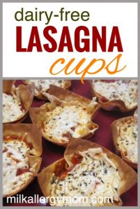 Won Ton Lasagna Cups {Dairy-Free}