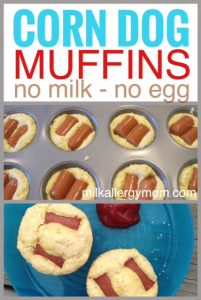 Freezer Corn Dog Muffins {Dairy-Free & Egg-Free}