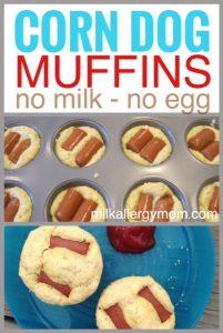 Corn Dog Muffins {No Milk or Egg}