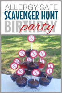 Scavenger Hunt Birthday Party ~ Food Allergy Safe
