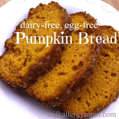 Milk and Egg Free Pumpkin Bread
