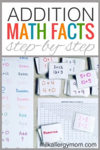 FREE Addition Table to Sum 15 + Math Flash Cards