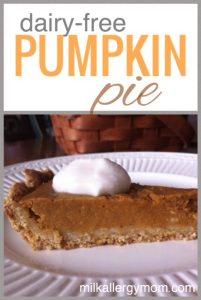 Pumpkin Pie {Dairy-Free & Low-Sugar}