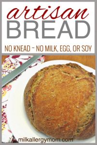 4-Ingredient No-Knead Dutch Oven Bread {Dairy-Free, Egg-Free, Soy-Free}